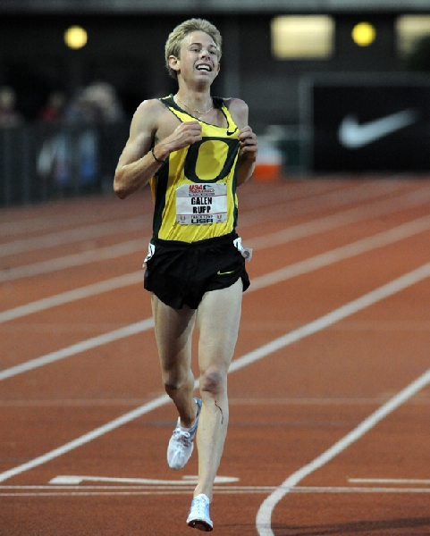 Gay breezes to 9.75 then departs Eugene