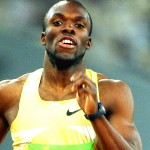 American 400m runner Lashawn Merritt in action