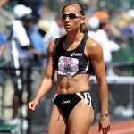Sprint hurdler Lolo Jones looks on after competing the women&#039;s 100m hurdles at the US trials PHOTO Randy Miyazaki