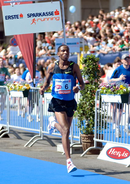 Getu Feleke running in Vienna in 2009. PHOTO: VCM / Manuel Platzer