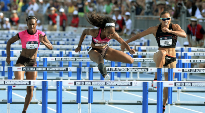 Brianna Rollins at the USA trials