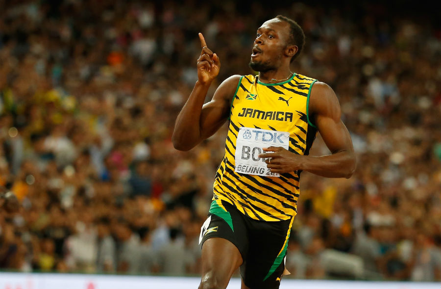 Usain Bolt of Jamaica world championships