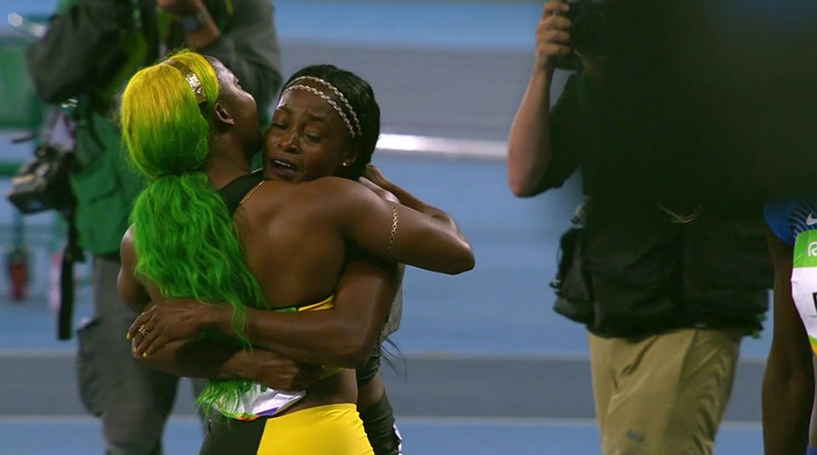 Elaine Thompson and Shelly-Ann Fraser-Pryce