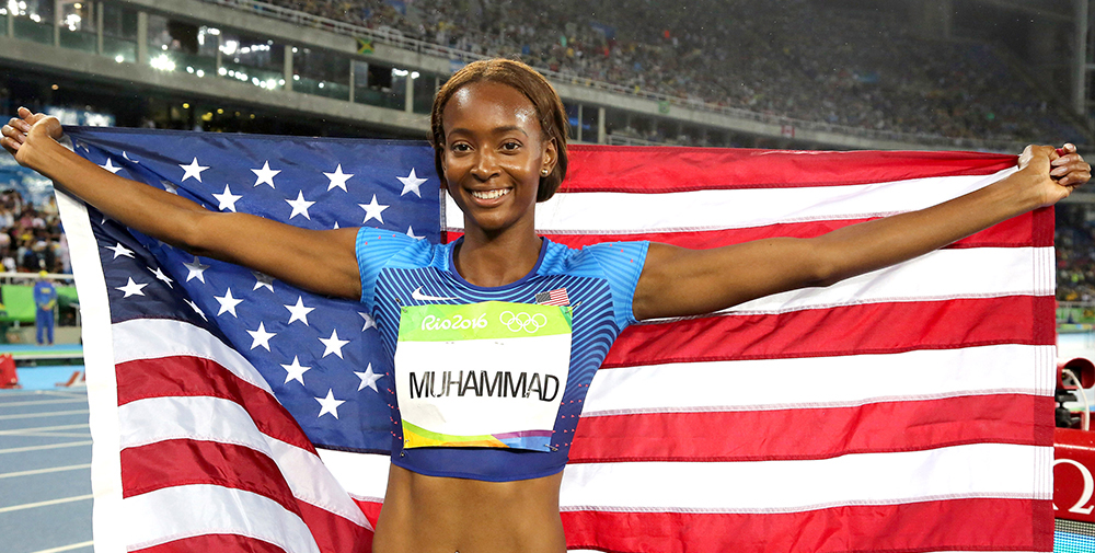 Dalilah Muhammad of USA