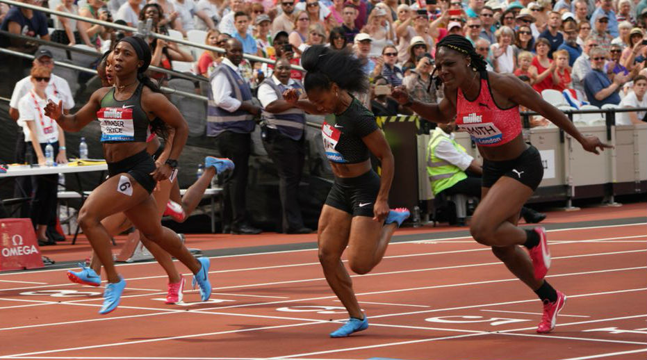 London Diamond League - Shelly and Fraser-Pryce