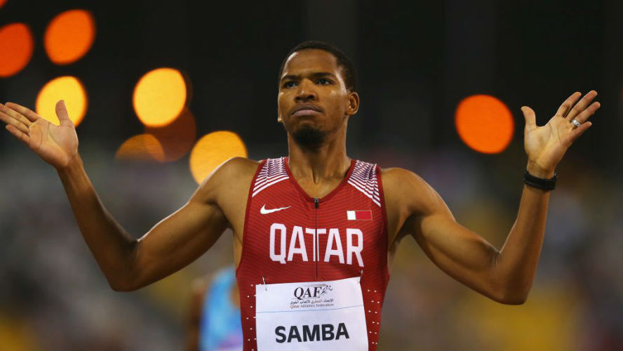 Abderrahman Samba of Qatar - IAAF Diamond League