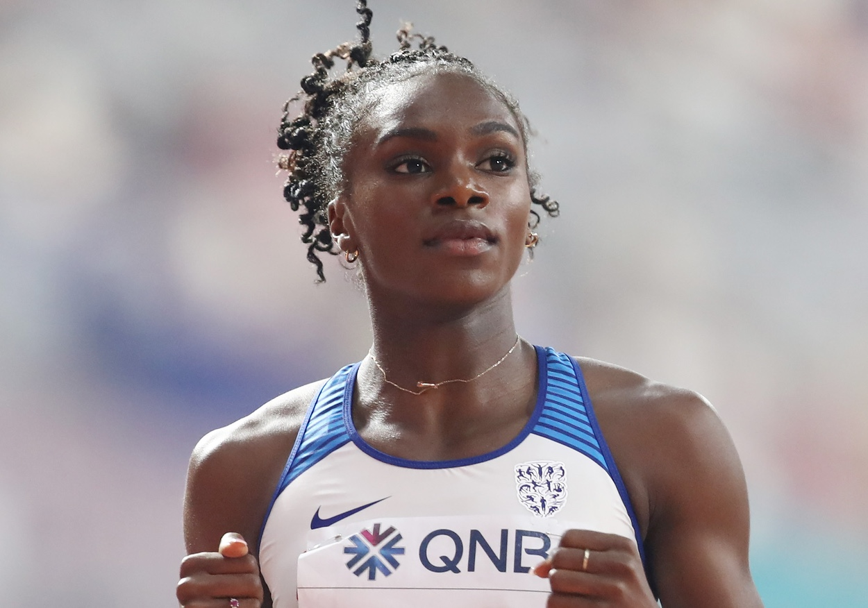 Dina Asher-Smith of Great Britain in the 200m