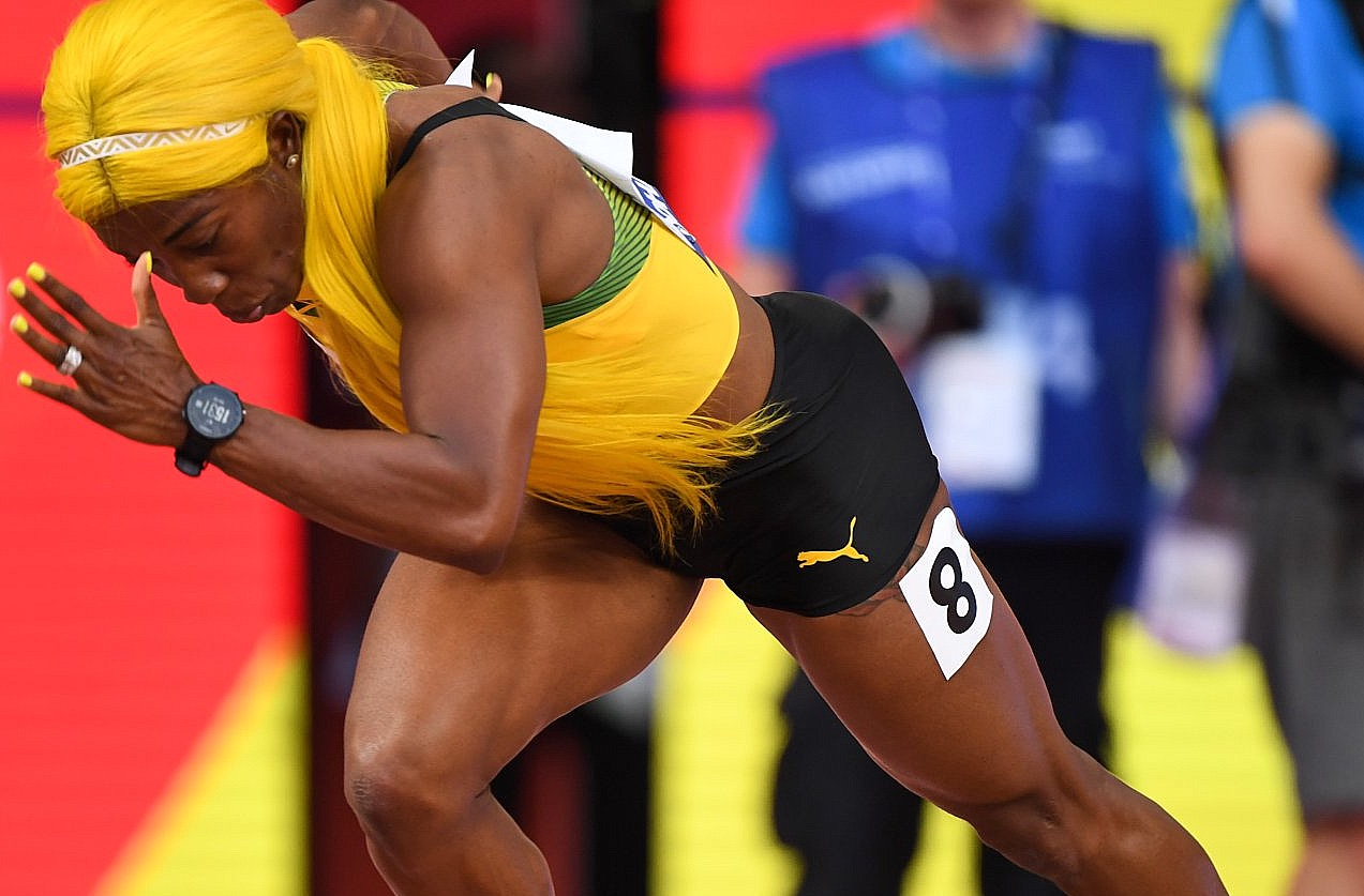 Shelly-Ann Fraser-Pryce at Doha World Championships