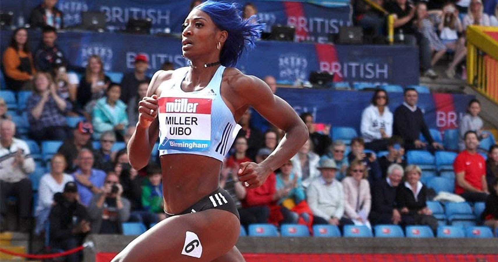 Shaunae Miller-Uibo of Bahamas in the 200m