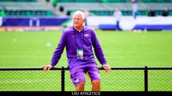 Dennis Shaver the LSU track and field coach