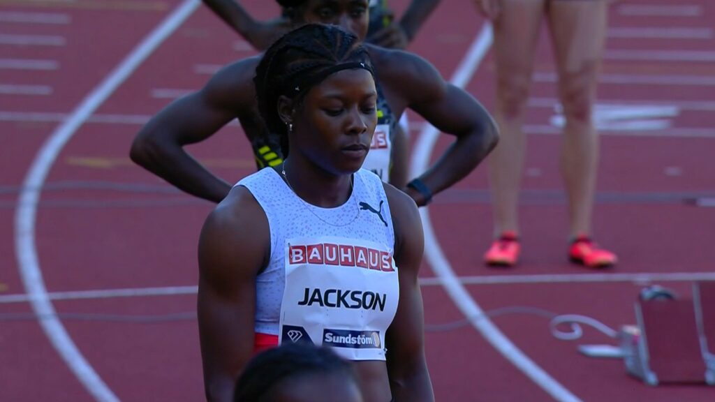 Jamaican-Shericka-Jackson-at-the-2021-Diamond-League-meeting-in-Stockholm