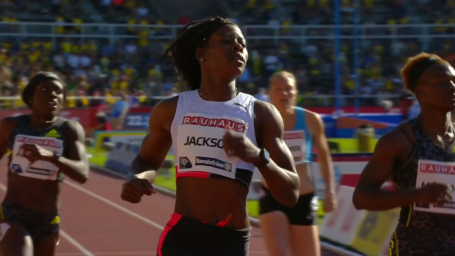 Jamaican-Shericka-Jackson-wins-the-200m-at-the-2021-Diamond-League-meeting-in-Stockholm