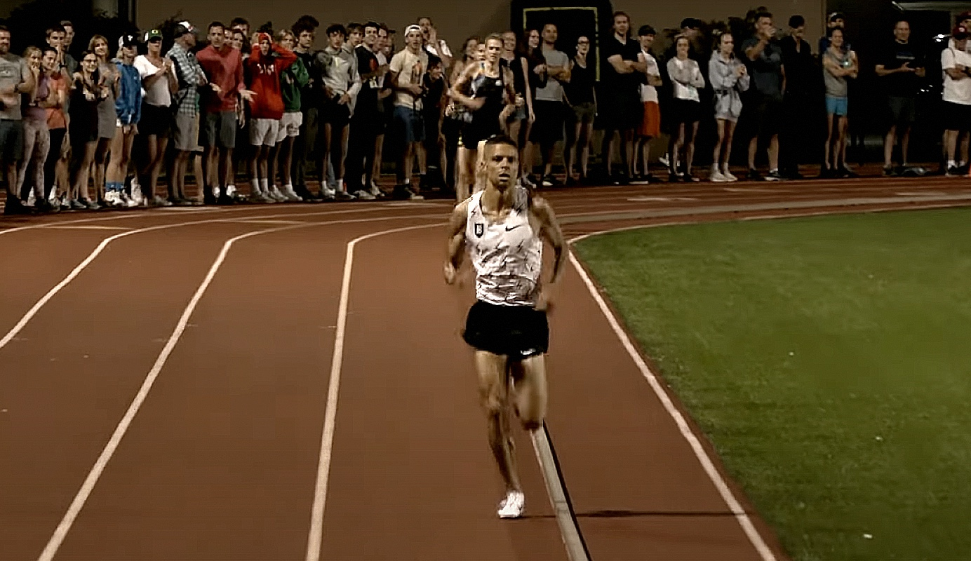 Matthew Centrowitz of USA American Mile record attempt