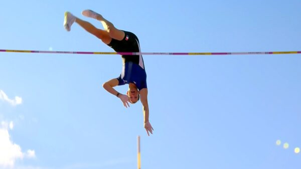 Renaud Lavillenie at the 2021 Diamond League meeting in Stockholm