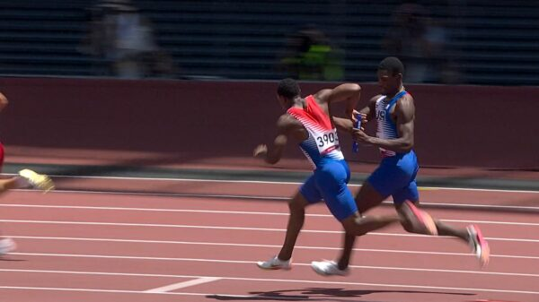 Ronnie Baker and Fred Kerley poor 4x100 baton exchange at Tokyo 2020